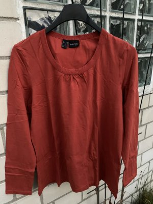 Woman by Tchibo Blusa collo a cravatta arancione scuro