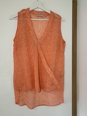 Tom Tailor Mouwloze blouse oranje