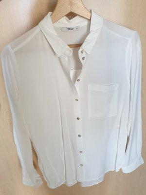 Only Bluzka z długim rękawem biały