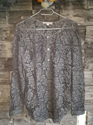 Comma Lace Blouse grey