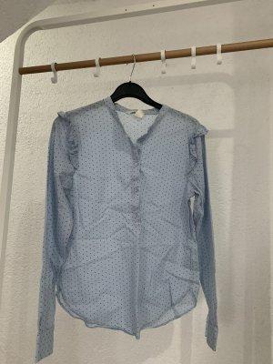 H&M Cols de blouses bleu pâle-noir