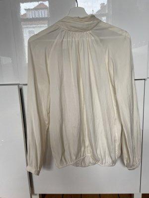 Soyaconcept Glanzende blouse licht beige