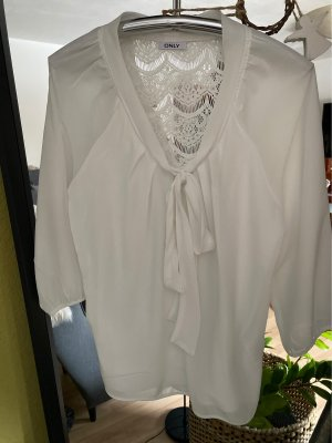 Only Tie-neck Blouse white