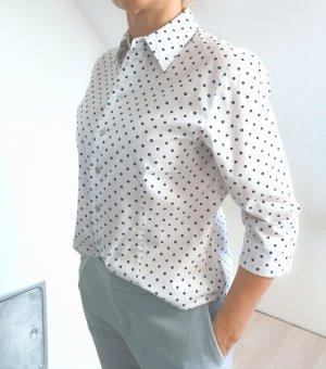 Anny Koszulowa bluzka biały-ciemnoniebieski
