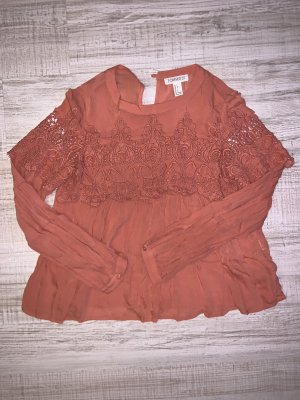 Forever 21 Blusa in merletto salmone