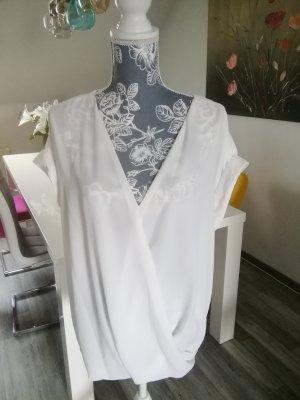 Athmosphere Transparentna bluzka kremowy