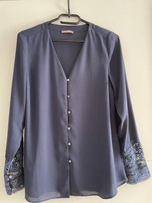 Orsay Koronkowa bluzka ciemnoniebieski