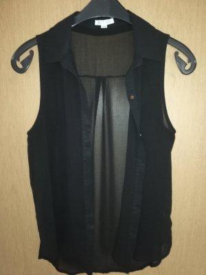 active Mouwloze blouse zwart