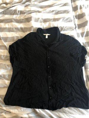 H&M Camisa de manga corta negro