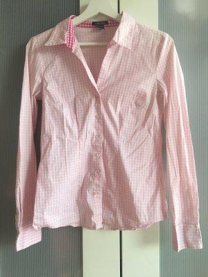 Amisu Blusa a cuadros blanco-rosa claro