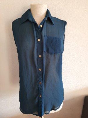 Athmosphere Transparante blouse petrol