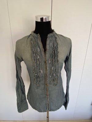 Coast Weber & Ahaus Blouse en jean gris brun-gris ardoise