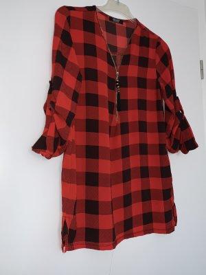 Long Blouse dark red-black