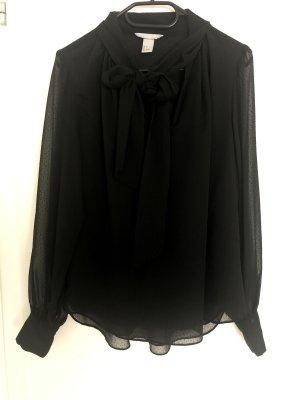 H&M Silk Blouse black