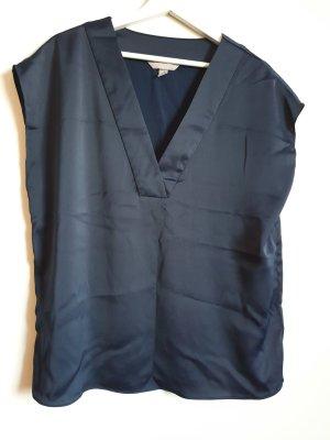 H&M Połyskująca bluzka ciemnoniebieski