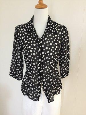 Wallis Shirt Blouse black-white viscose