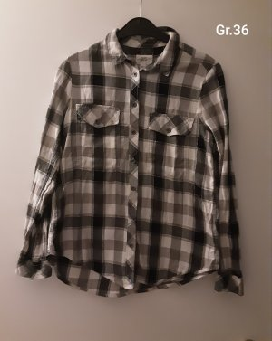 QS by s.Oliver Blusa a cuadros negro-gris claro