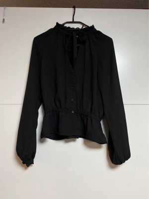 H&M Blusa de manga larga negro