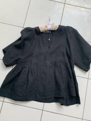 Vanilia Blusa de lino negro
