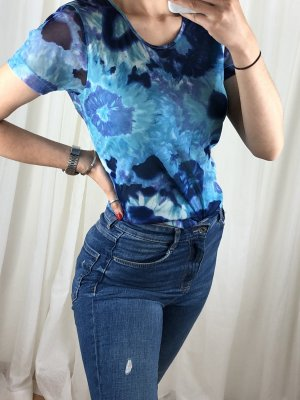 Cosmos Chic Short Sleeved Blouse multicolored