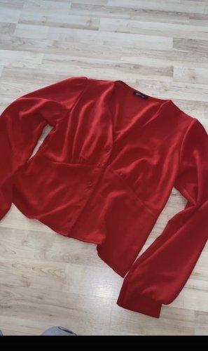 Bohoo Bluzka z długim rękawem głęboka czerwień