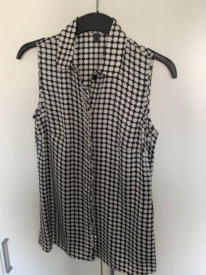 Esprit Blusa sin mangas negro-blanco Poliéster
