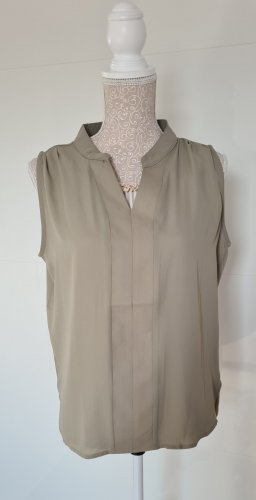Bluse Ärmellos - Oliv - Größe 36 S - neu