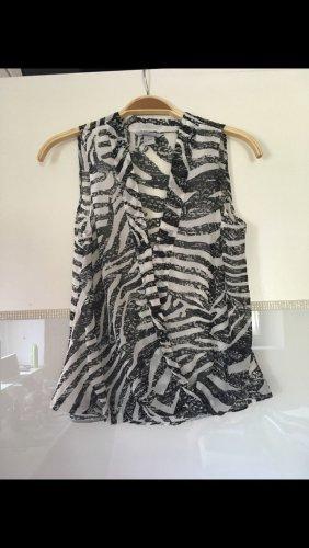 H&M Blouse sans manche blanc-noir polyester