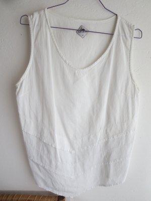 Blanc du Nil Mouwloze blouse wit Katoen