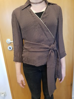 More & More Wraparound Blouse natural white-brown red