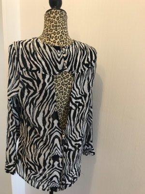 Bluse Animalprint mit Rückenausschnitt