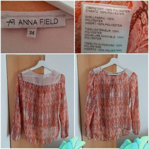 Anna Field Blouse met lange mouwen neonoranje-wit