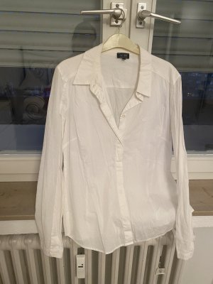 Armani Jeans Blouse en lin blanc-blanc cassé