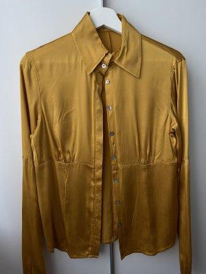 Rosner Camicetta a maniche lunghe giallo-oro Seta