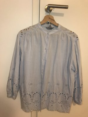 H&M Lace Blouse azure cotton