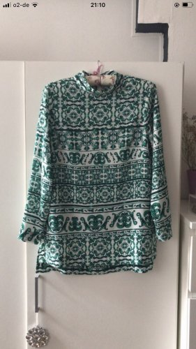 H&M Blusa de manga larga blanco-verde bosque