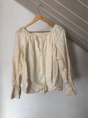 Zara Blouse en lin blanc cassé-crème