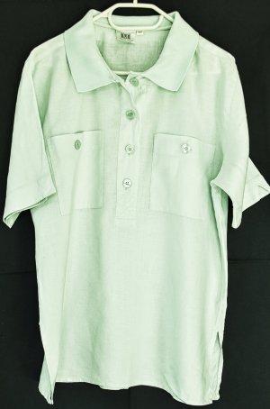 Bluse aus reinem, leichten Leinen, pastellgrün