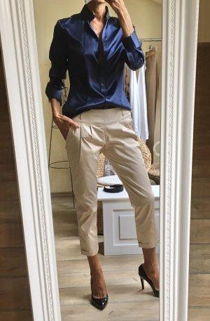 Brigitte von Boch Zijden blouse donkerblauw