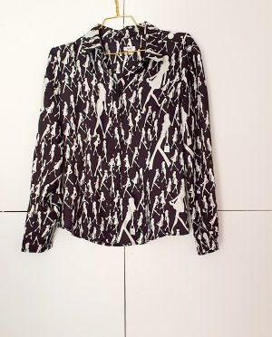 Versace Jeans Couture Silk Blouse white-black silk