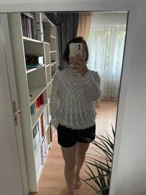 Culture Blusa in merletto bianco-bianco sporco