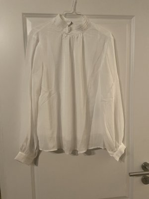 Fransa Stand-Up Collar Blouse white