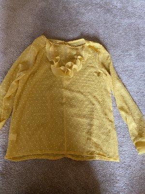Lace Blouse pale yellow