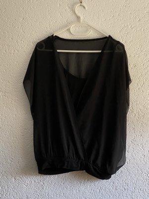 Bon Prix Dopinany kołnierzyk koszulowy czarny