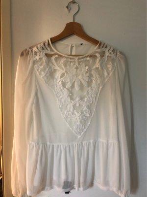 Transparent Blouse white