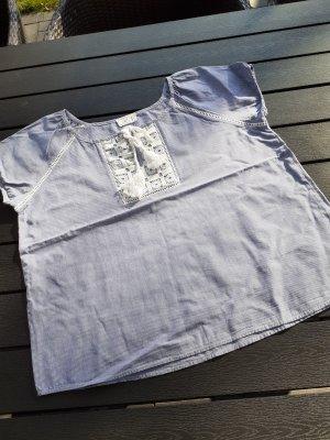 Basefield Blusa a tunica bianco-azzurro