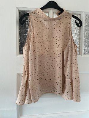 Bershka Camicetta a maniche lunghe rosa antico-nero
