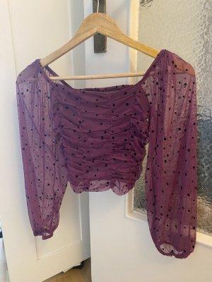 Bershka Bodysuit Blouse lilac-black
