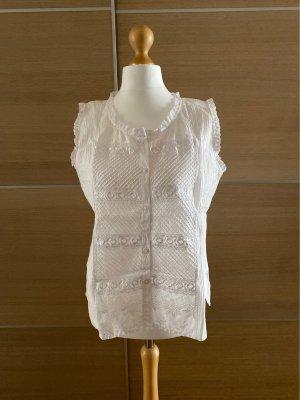 Blusa in merletto bianco Cotone