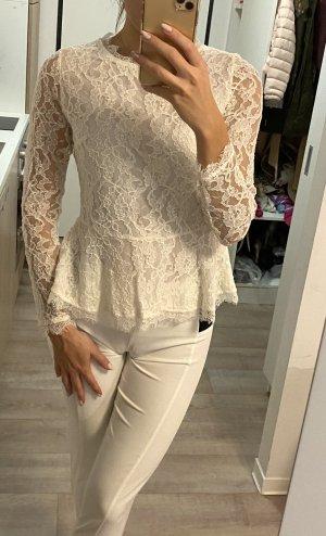 100% Fashion Blouse à manches longues blanc